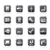 Einfache Geschäfts- und Industrieikonen Lizenzfreies Stockbild