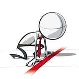 Einfache Geschäftsleute auf Projekt - bereites stabiles Lizenzfreie Stockfotografie