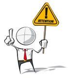 Einfache Geschäftsleute - Aufmerksamkeit Stockfoto
