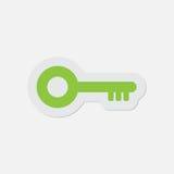 Einfache grüne Ikone - Schlüssel Stockbilder