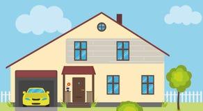 Einfache Haus-Illustration Stockfoto