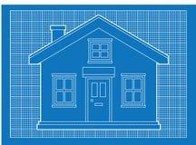 Einfache Hauslichtpausen Lizenzfreies Stockfoto