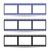 Einfache Ikone des Filmrahmen-Bands Abbildung Stockfoto