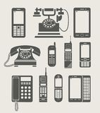 Einfache Ikone des Telefonsets Lizenzfreies Stockbild
