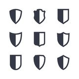 Einfache Ikonen der Schildrahmen eingestellt Lizenzfreies Stockbild