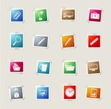 Einfache Ikonen des Geschäfts Lizenzfreie Stockfotos