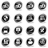 Einfache Ikonen des Geschäfts Stockfotografie
