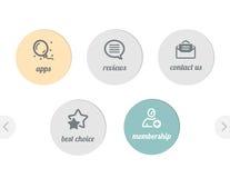 Einfache Ikonen für Web Stockfotos