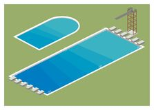 Einfache Illustration des Swimmingpools Lizenzfreie Stockbilder