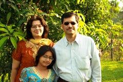 Einfache indische Familie Stockfotografie