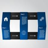 Einfache infographics 3d Karten Lizenzfreie Stockfotos