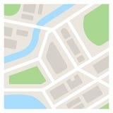 Einfache Karten-Illustration Stockfotografie