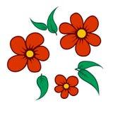 einfache kleine Corsage von Blumen Abbildung Lizenzfreie Stockfotografie
