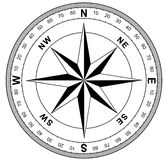 Einfache Kompassrose Lizenzfreies Stockfoto