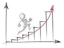 Einfache Wachstum-Diagramm-Skizze Stock Abbildung - Illustration von ...