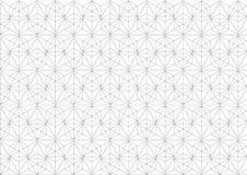 Einfache Linie geometrischer Musterschwarzweiss-hintergrund der Kunst; abstraktes modernes Grafikdesign Stockbilder