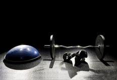 Einfache Lockenstange der Balancenballhandschuhe Stockbilder