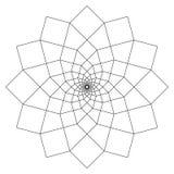 Einfache Mandala Shape f?r die F?rbung Vektormandala floral Blume orientalisch Buchseite umrei? lizenzfreie abbildung