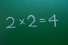 Einfache mathematische Formel auf Tafel Stockbilder