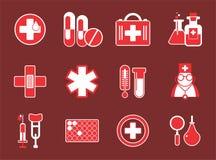 Einfache medizinische Ikonen lizenzfreie abbildung