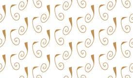 Einfache moderne abstrakte braune gelockte Linien Muster Lizenzfreie Stockfotos