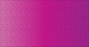Einfache moderne purpurrote Strudellinie Stammes- Muster Stockbild