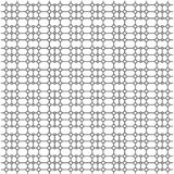 Einfache Musterlinie Kunstkreisquadratvektor stockfoto