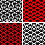 Einfache nahtlose Muster der Welle Lizenzfreie Stockfotografie