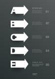 Einfache Papierschablonen und Buchstaben A, B, C, D, e-Design für infographics Lizenzfreies Stockfoto