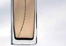 Einfache Parfümflasche mit Luftscheinen/-blasen Lizenzfreies Stockfoto
