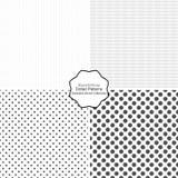 Einfache punktierte Muster Stockfotografie