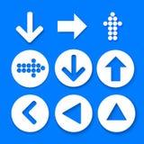 Einfache quadratische Forminternet-Taste ENV 10 Einfacher Kreisforminternet-Knopf Stockfotos