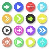 Einfache quadratische Forminternet-Taste ENV 10 Flache Art Lizenzfreie Abbildung