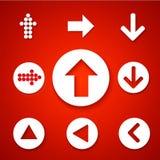 Einfache quadratische Forminternet-Taste ENV 10 Zeitgenössische moderne Art Lizenzfreie Stockbilder