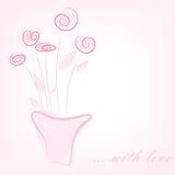 Einfache rosafarbene Blumen lizenzfreies stockfoto