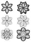 Einfache Schwarzweiss-Blumen lizenzfreie abbildung