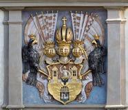 Einfache stilisierte Ikone des Häuschens Stockfotografie
