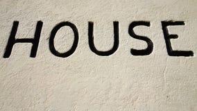 Einfache stilisierte Ikone des Häuschens Lizenzfreies Stockfoto