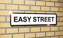 Einfache Straße Stockbilder