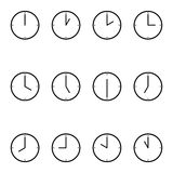 Einfache Uhr des vollen Gesichtes Stockfotos