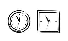 Einfache Uhrskizze Stockfotografie