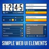 Einfache UI-Element-blaues Gelb Weißes Smartphone 480x800 stock abbildung