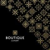 Einfache und würdevolle Blumenmonogrammdesignschablone, elegante lineart Logo-Designschablone, Vektorikonenillustration Stockfotos
