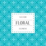 Einfache und würdevolle Blumenmusterdesignschablone, elegantes lineart Logodesign, Vektorikonenillustration Moderne Art Stockfoto