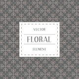 Einfache und würdevolle Blumenmusterdesignschablone, elegantes lineart Logodesign, Vektorikonenillustration Moderne Art Lizenzfreie Stockbilder