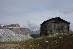 Einfache Unterkunft aber mit großen Ansichten Stockbilder