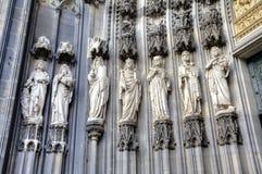 Einfache vektorabbildungen Köln-Kathedrale, Deutschland Lizenzfreie Stockfotos
