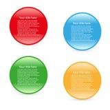 Einfache vier Ikonen des Vektors Farb Stockbilder