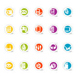 Einfache Web-Ikonen-Media (Vektor Lizenzfreie Stockfotos