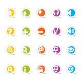 Einfache Web-Ikonen (Vektor) Lizenzfreie Stockfotos